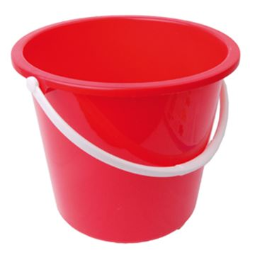 Picture of 10L Bucket Plastic Red