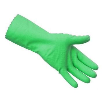 Picture of Green Rubber Glove M/W MED S.7/8