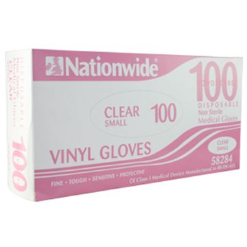 Picture of Clear Vinyl Disposable Glove SML x100