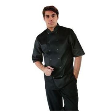 Picture of Whites Vegas Unisex Chef Jacket Short Sleeve Black - S