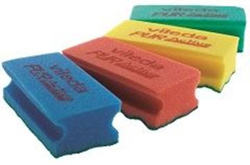 "Picture of 6""x3.5"" Puractive Foam Scourer Green x10"