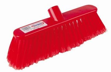 """Picture of 12"""" Deluxe Red Broom Head Soft Bristles"""