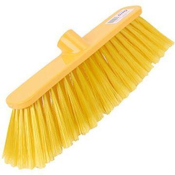 "Picture of 12"" Deluxe Broom Head Stiff Yellow"
