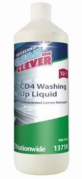 Picture of Clean and Clever Lemon Washing Up Liquid 1L 13710 CD2
