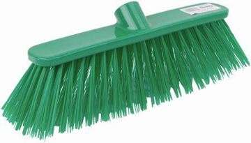 "Picture of 12"" Deluxe Broom Head Stiff Green"
