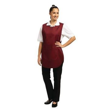 Picture of Tabard With Pocket Burgundy Large