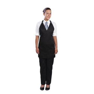 Picture of Chef Works Unisex Tuxedo Bib Apron Black