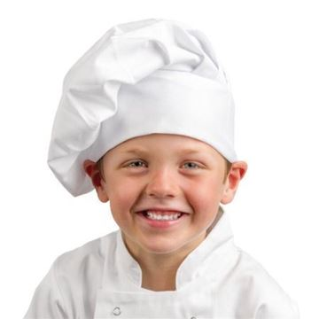 Picture of Whites Childrens Unisex Chef Hat White