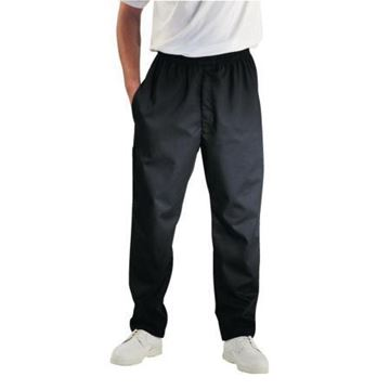 Picture of Chef Works Essential Baggy Pants Black Teflon M