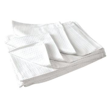 Picture of Vogue Cloths White Honeycomb Weave (Pack of 10)