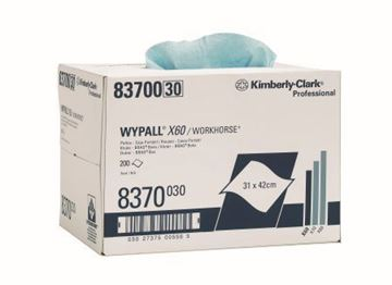 Picture of 8370 Wypall X60 1ply Blue Brag Box x 200