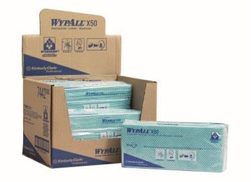 Picture of 7442 Wypall X50 Cleaning Cloths Green 6x50