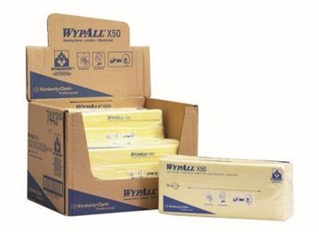 Picture of 7443 Wypall X50 Cleaning Cloths Yellow