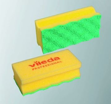 "Picture of 6""x3.5"" Puractive Foam Scourer Yellow x10"