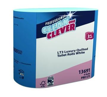 Picture of Clean and Clever Luxury White Toilet Rolls 3Ply 40 Rolls