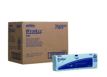 Picture of 7565 Wypall X80 Cleaning Cloth Blue 10x25