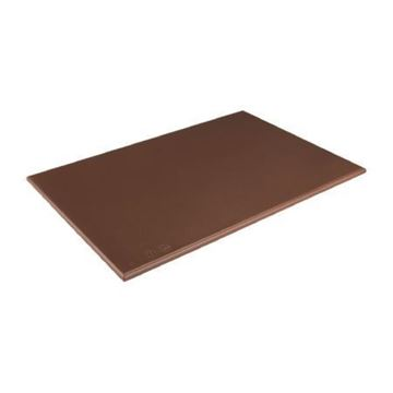 Picture of Hygiplas High Density Brown Chopping Board Standard