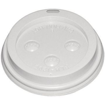 Picture of Fiesta Disposable Coffee Cup Lids White 340ml / 12oz and 455ml / 16oz (Pack of 50)