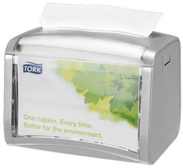 Picture of 272613 Tork Xpressnap Tabletop Dispenser Grey