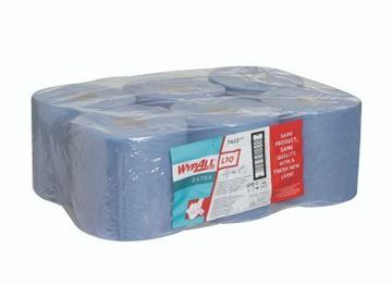Picture of 7493 Wypall L10 Wipers C/Feed Blue 1Ply