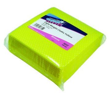 Picture of Clean and Clever Light Weight YELLOW 40gsm Cloths x50