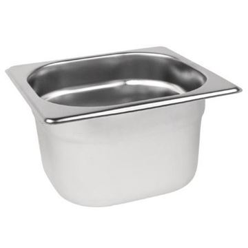 Picture of Vogue Stainless Steel 1/6 Gastronorm Pan 100mm