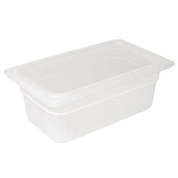 Picture of Vogue Polypropylene 1/4 Gastronorm Container with Lid 150mm (Pack of 4)