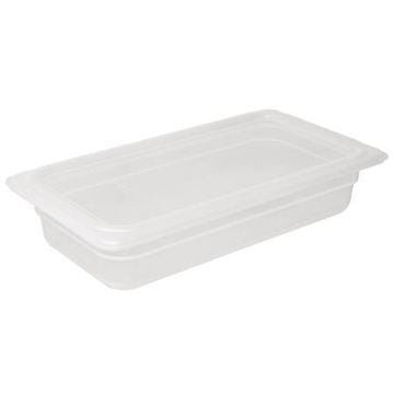 Picture of Vogue Polypropylene 1/3 Gastronorm Container with Lid 200mm (Pack of 4)