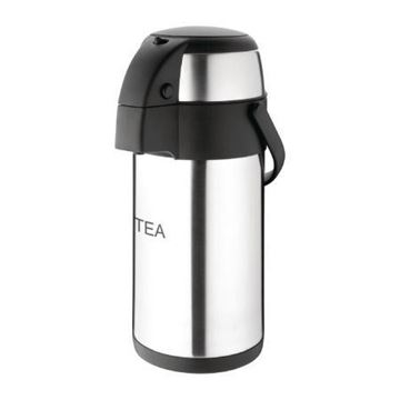 Picture of Olympia Pump Action Airpot Etched 'Tea' 3Ltr