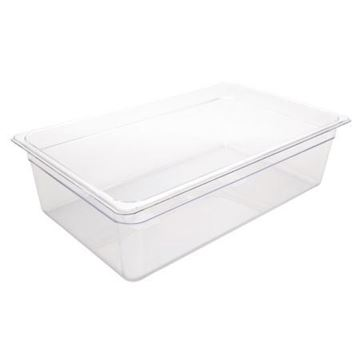 Picture of Vogue Polycarbonate 1/1 Gastronorm Container 150mm Clear