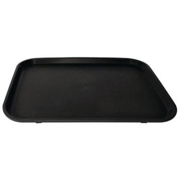 Picture of Kristallon Polypropylene Rectangular Non-Slip Tray Black 458mm