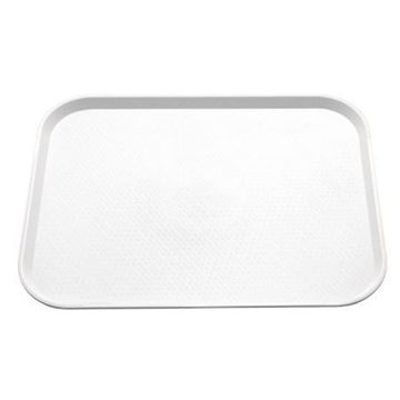 Picture of Kristallon Medium Polypropylene Fast Food Tray White 415mm