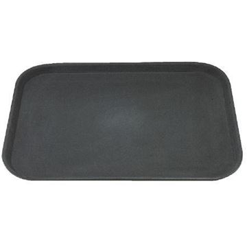 Picture of Kristallon Polypropylene Rectangular Non-Slip Tray Black 457mm