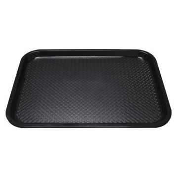 Picture of Kristallon Medium Polypropylene Fast Food Tray Black 415mm
