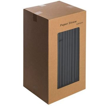 Picture of BKPAP25012 Black Paper Straw x250