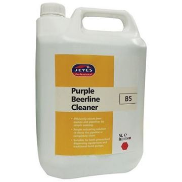 Picture of YB05 B5 Purple Beerline Cleaner 5L