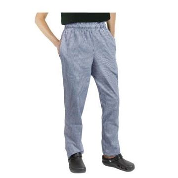Picture of Chef Works Essential Baggy Pants Small Blue Check M