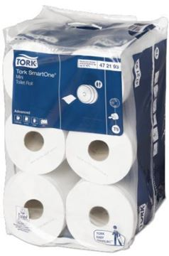 Picture of Tork SmartOne Mini Toilet Rolls White 2Ply 12 Rolls
