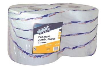 Picture of Clean and Clever Jumbo Roll LC 2Ply 410m x6 PJ3 12121