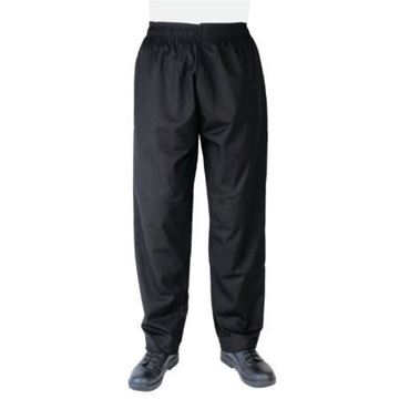 Picture of Whites Vegas Chef Trousers Polycotton Black - L