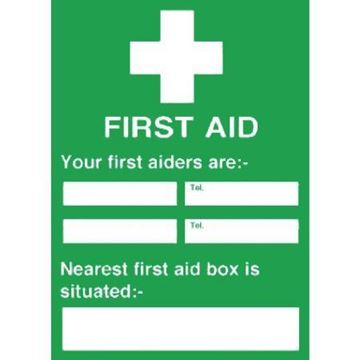 Picture of First Aiders Nearest First Aid Box Sign