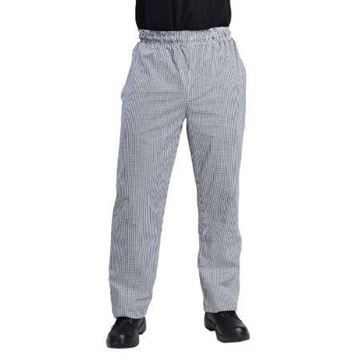 Picture of Whites Unisex Vegas Chefs Trousers Black and White Check S