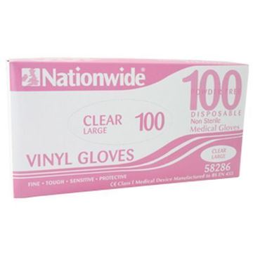 Picture of Clear Vinyl Disposable Glove LGE x100