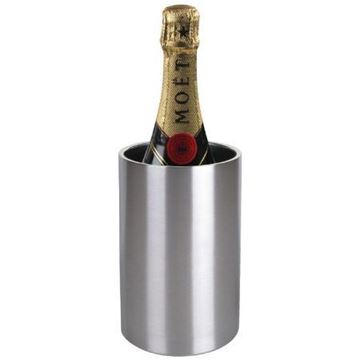 Picture of Olympia Brushed Stainless Steel Wine And Champagne Cooler