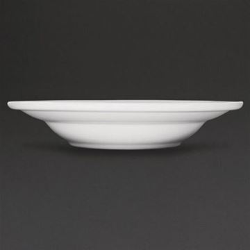 Picture of Athena Hotelware Rimmed Soup & Pasta Bowls 228mm 210ml (Pack of 6)