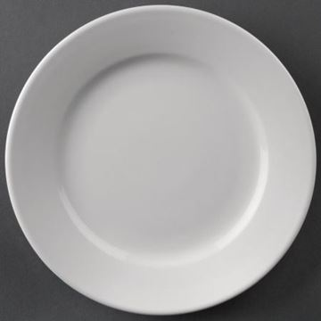 Picture of Athena Hotelware Wide Rimmed Plates 202mm (Pack of 12)