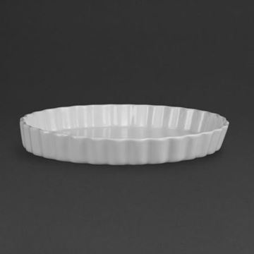 Picture of Olympia Whiteware Flan Dishes 297mm (Pack of 6)