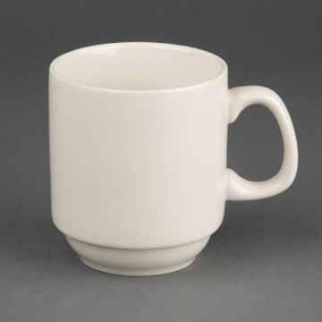 Picture of Olympia Ivory Stacking Mugs 285ml 10oz (Pack of 12)