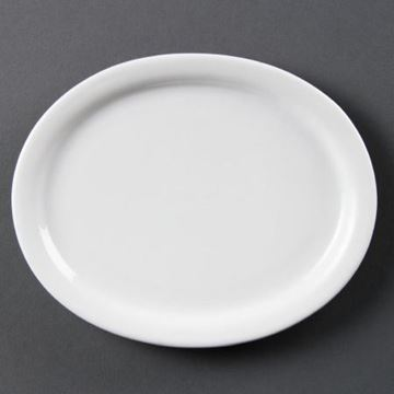 Picture of Olympia Whiteware Oval Platters 202mm (Pack of 6)