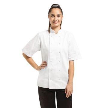 Picture of Whites Vegas Unisex Chef Jacket Short Sleeve White - M